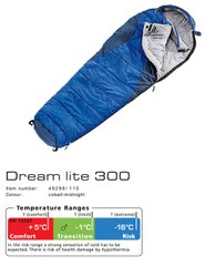 Спальник Dream Lite 300 цвет 1100 cobalt-midnight левый